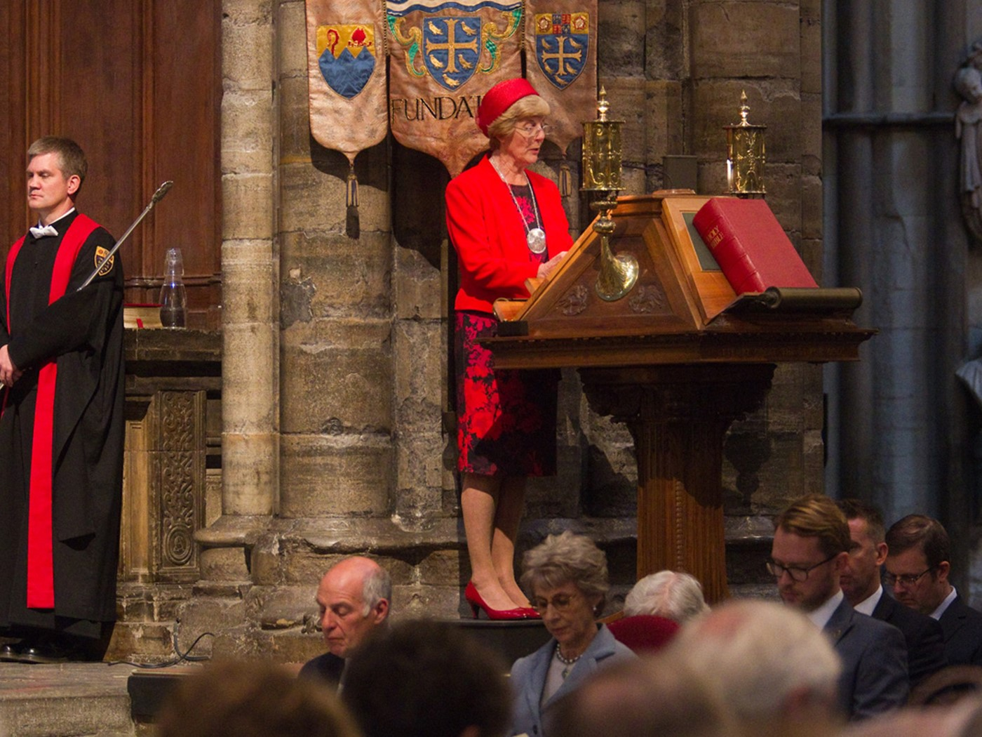 June Robinson BEM, Member of The Arts Society Leatherhead and Chairman of Trustees, reads Colossians 1:9b-20