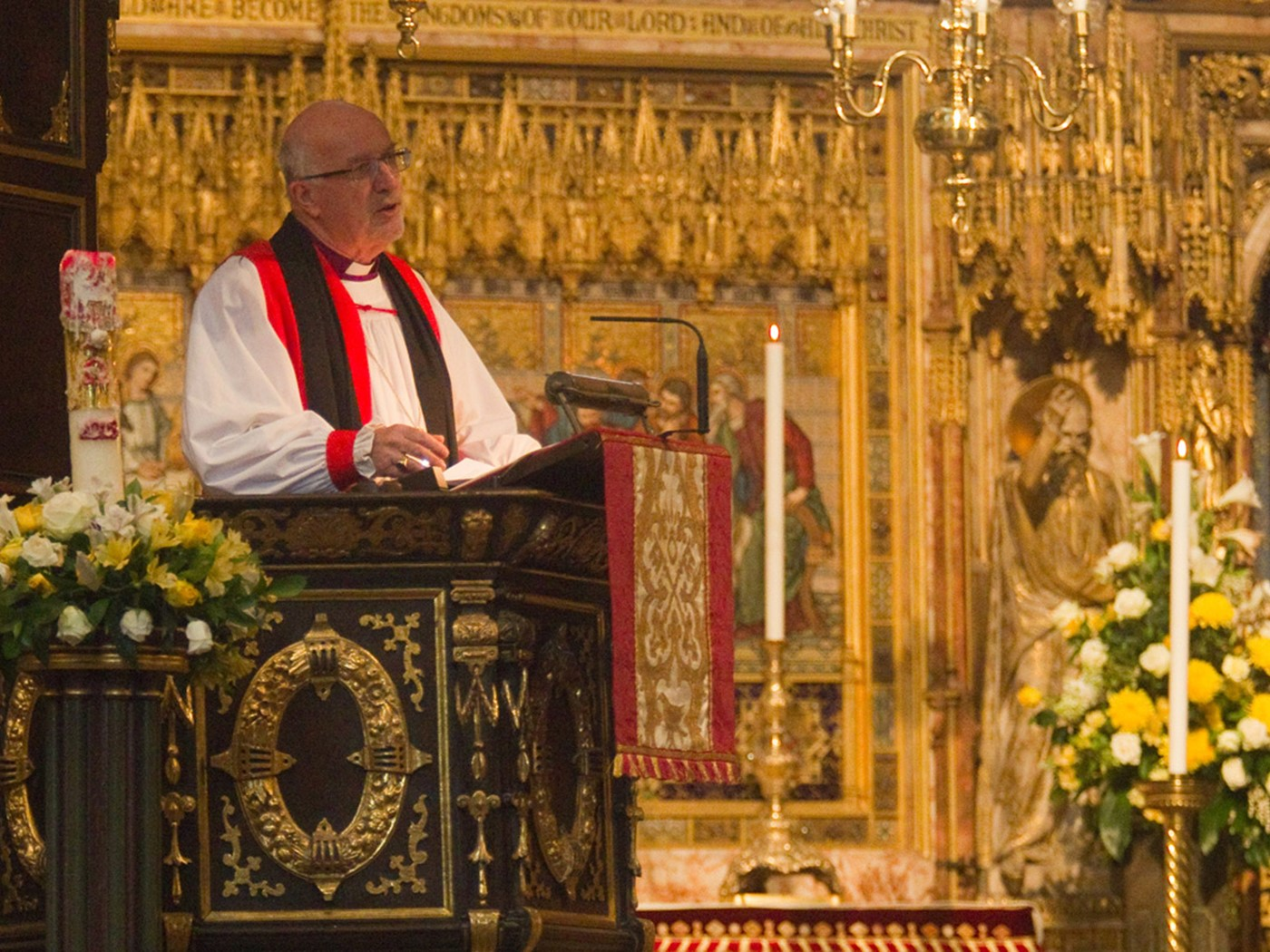 The Right Reverend Christopher Herbert, former Bishop of St Albans, gives the Address