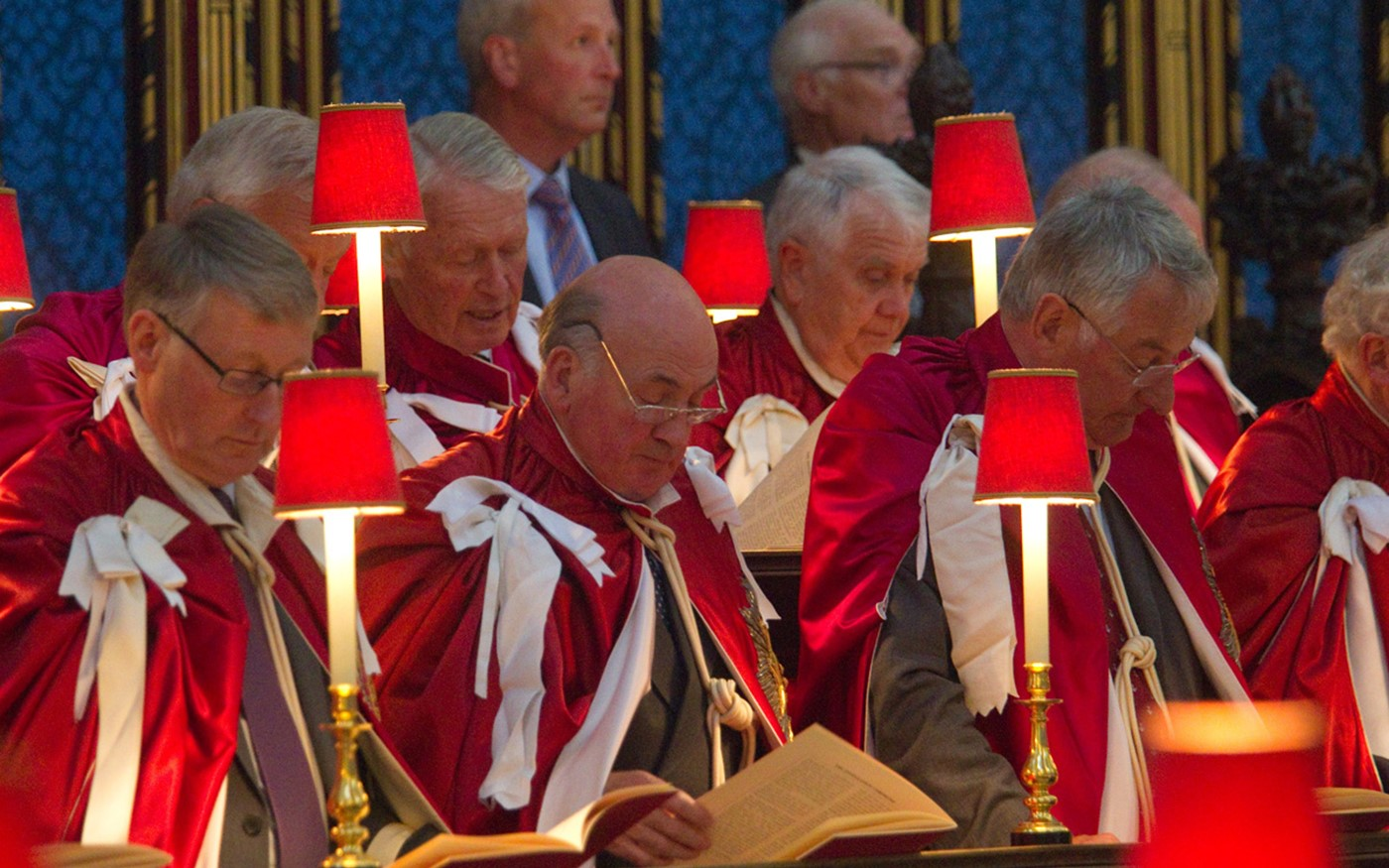 The Knights of the Order in the quire