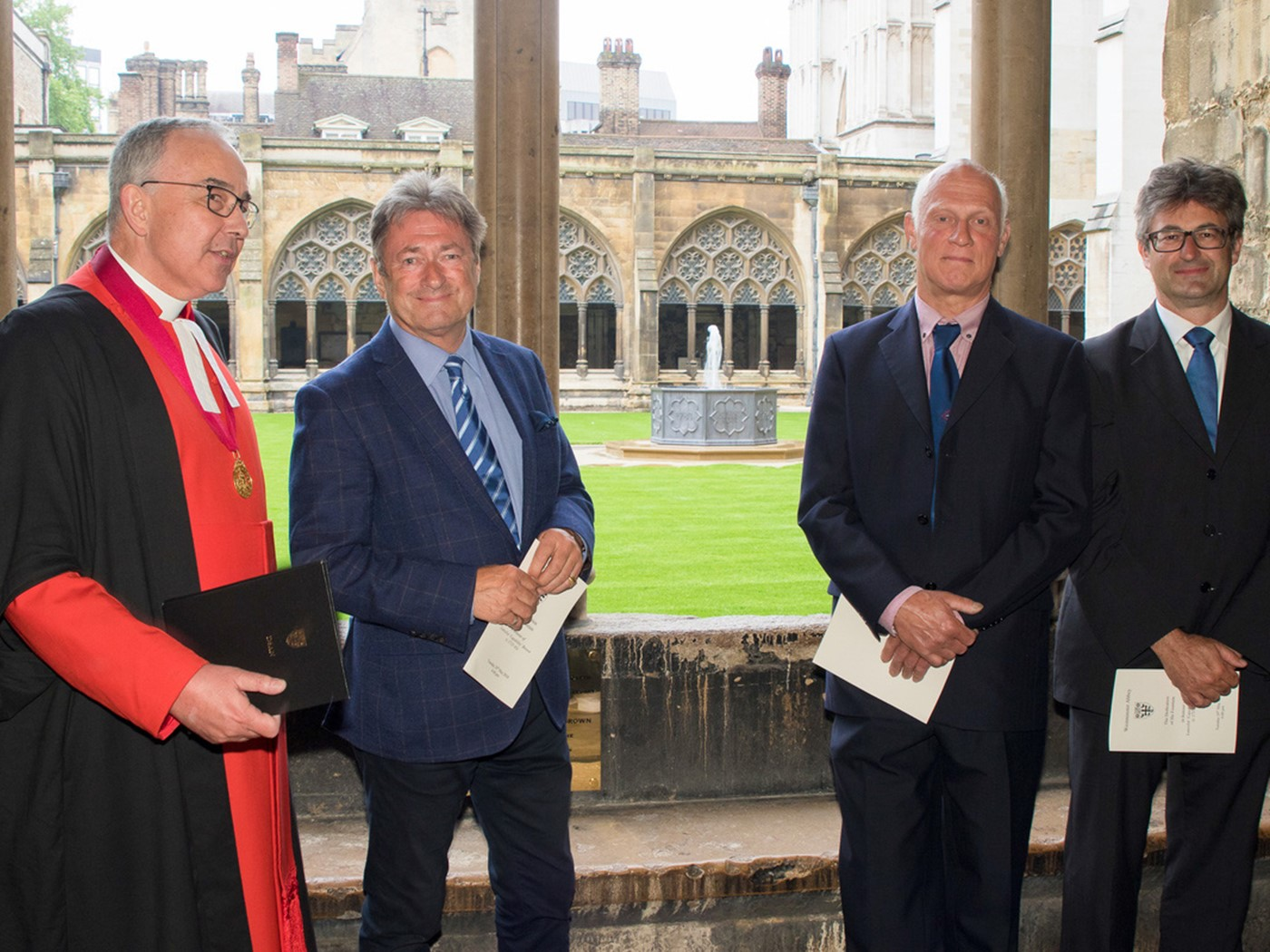 The Dean of Westminster with Alan Titchmarsh, Brian Turner and Ptolemy Dean