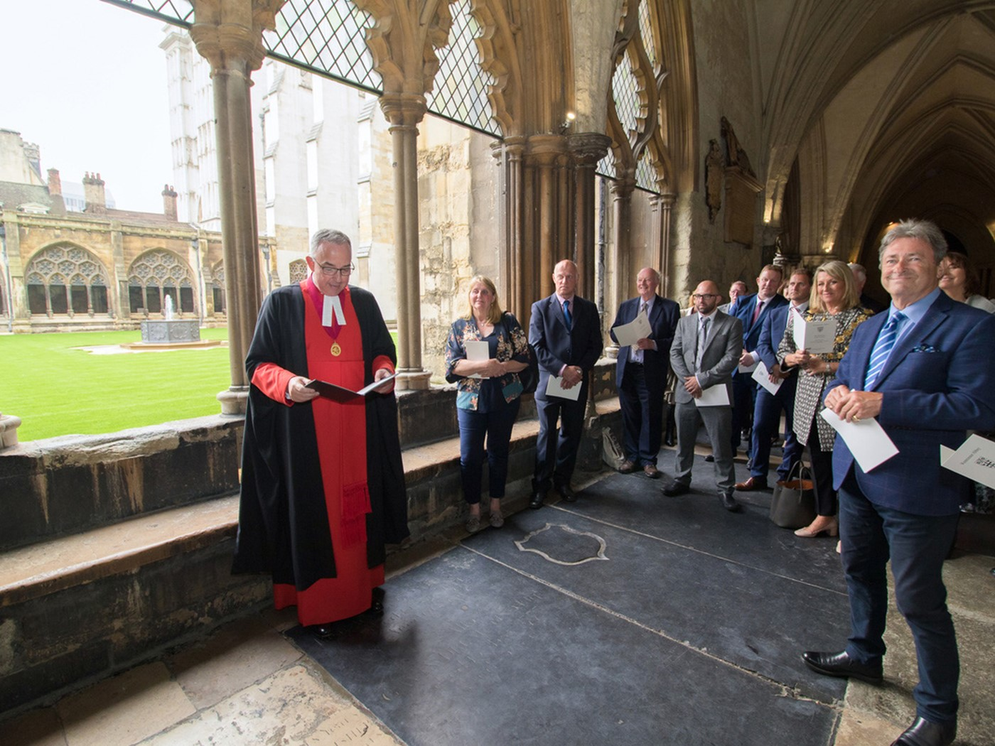 The Dean of Westminster gives the blessing
