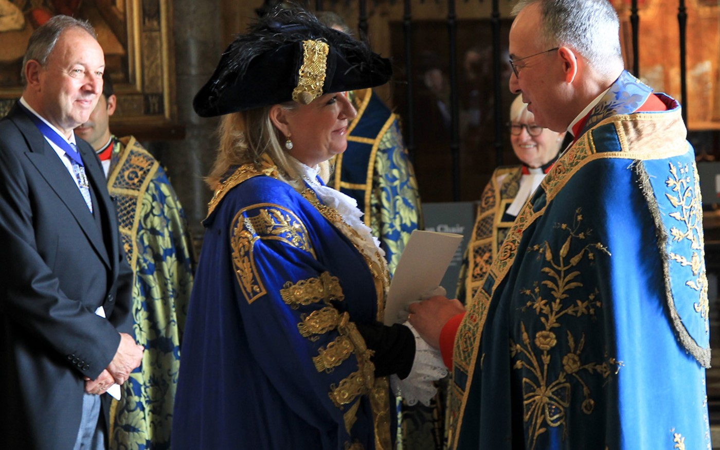 The Lord Mayor with the The Dean of Westminster after the service