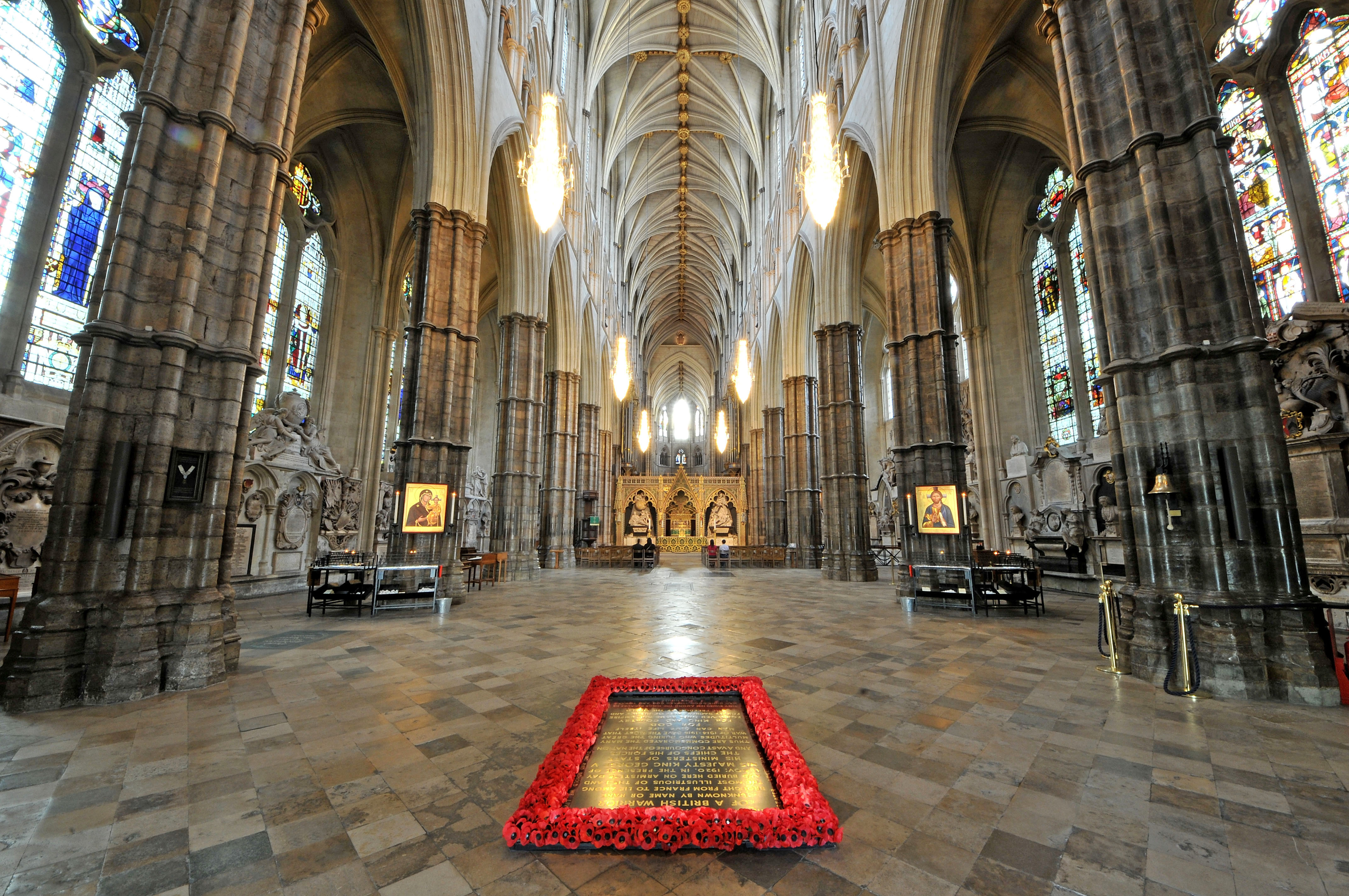 The Grave of the Unknown Warrior in the Nave