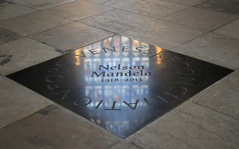 Nelson Mandela honoured with memorial stone on the centenary of his birth
